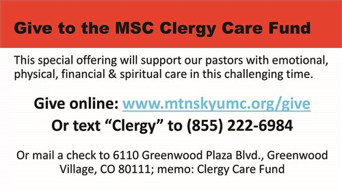 Graphic for Memorial Service Offering of Clergy Care Fund