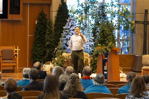 Photo of Rev. Mark Holland speaking at Inclusiveness III Conference on 12-6-2019