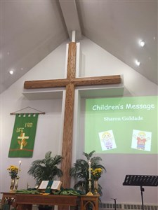 Photo of Rinn UMC's new cross
