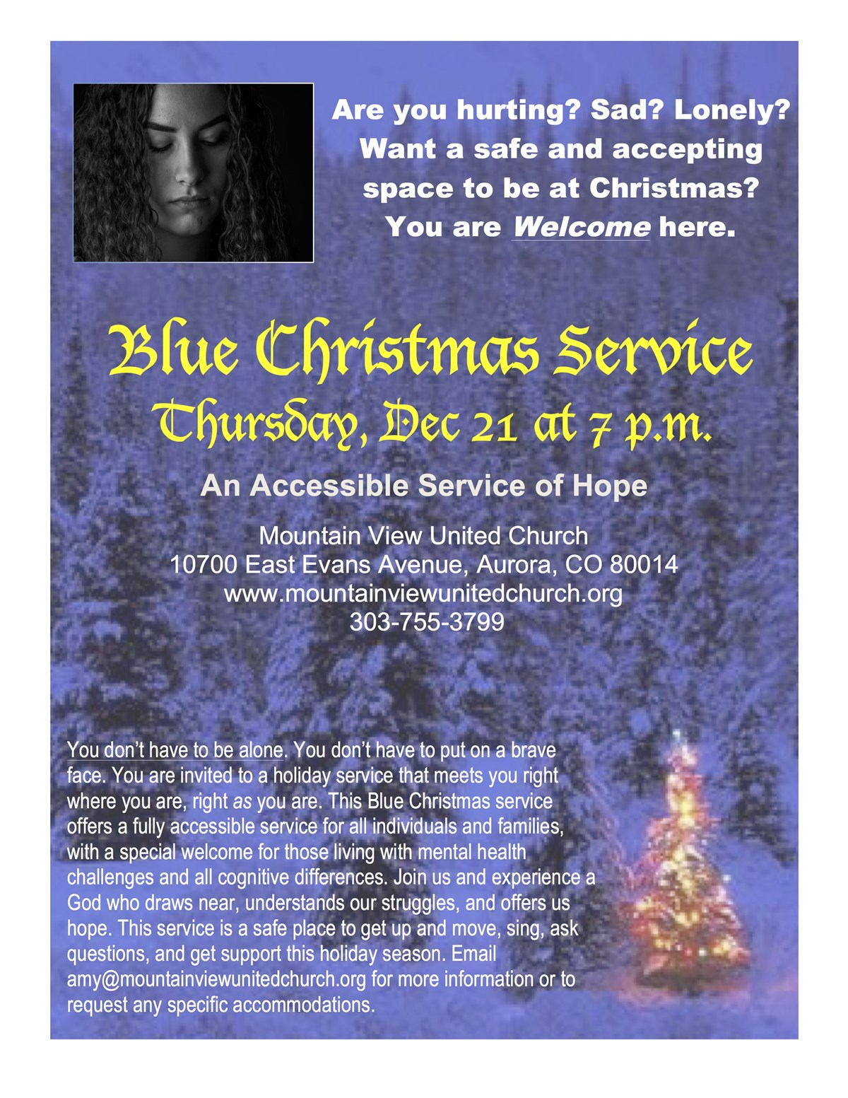 blue christmas an accessible service of hope - Blue Christmas Service