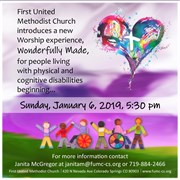 First UMC of Colorado Springs announces worship service for those with physical and cognitive challenges