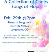 A Collection of Choirs, Songs of Hope concert benefiting Agape Safe Haven in Longmont, CO