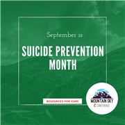 September is Mental Health Awareness Month