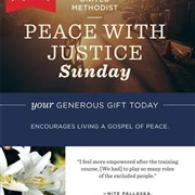 Support Peace with Justice Sunday on May 22