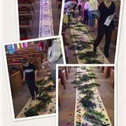 Members of Yuma UMC make Palm Sunday Alfombras