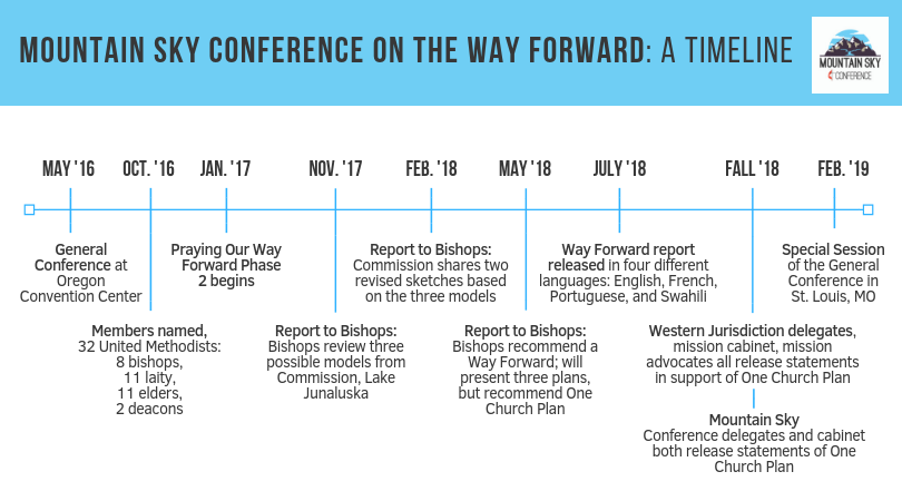 Graphic of Way Forward timeline